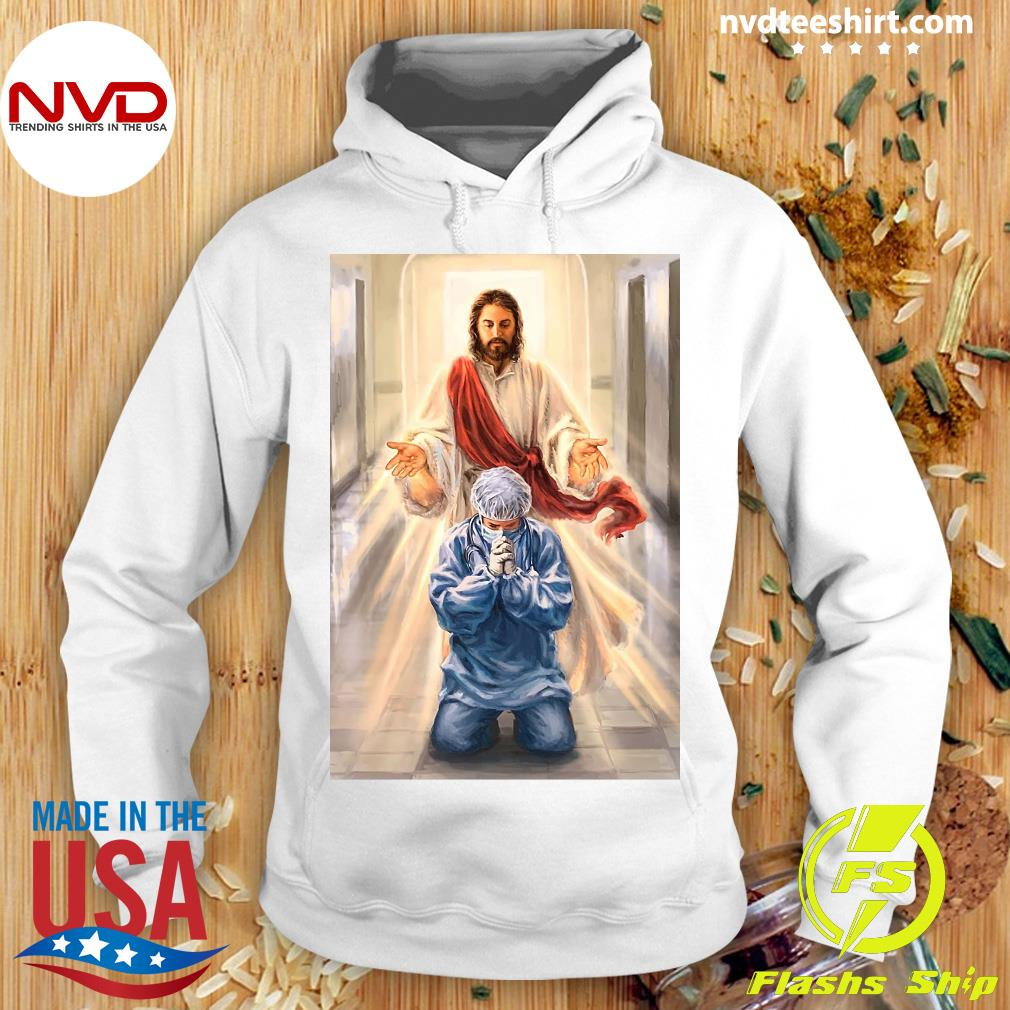 Official Merciful Jesus Bless Healthcare Heroes You Nurse T-s Hoodie