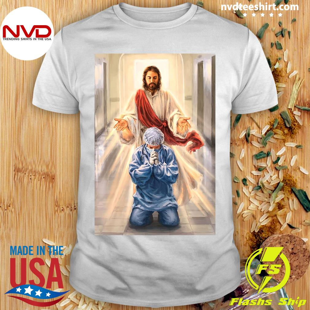Official Merciful Jesus Bless Healthcare Heroes You Nurse T-shirt