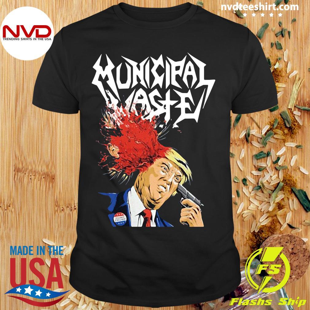 Official Municipal Waste Trump Walls Of Death T-shirt