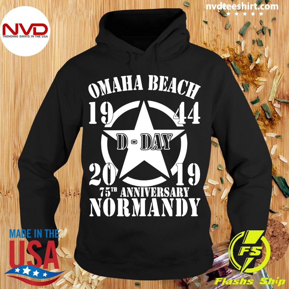 Official Omaha Beach D-Day 1944-2019 Star 75th Anniversary Normandy T-s Hoodie