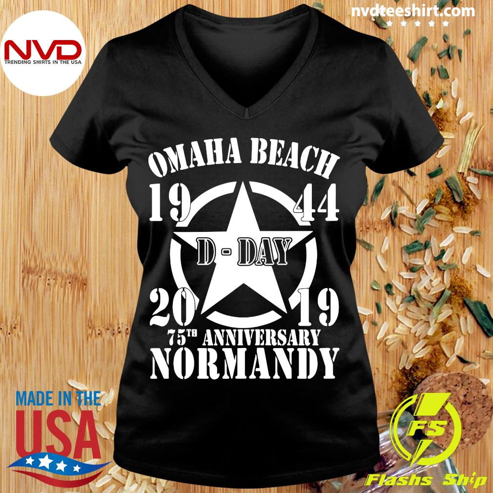 Official Omaha Beach D-Day 1944-2019 Star 75th Anniversary Normandy T-s Ladies tee