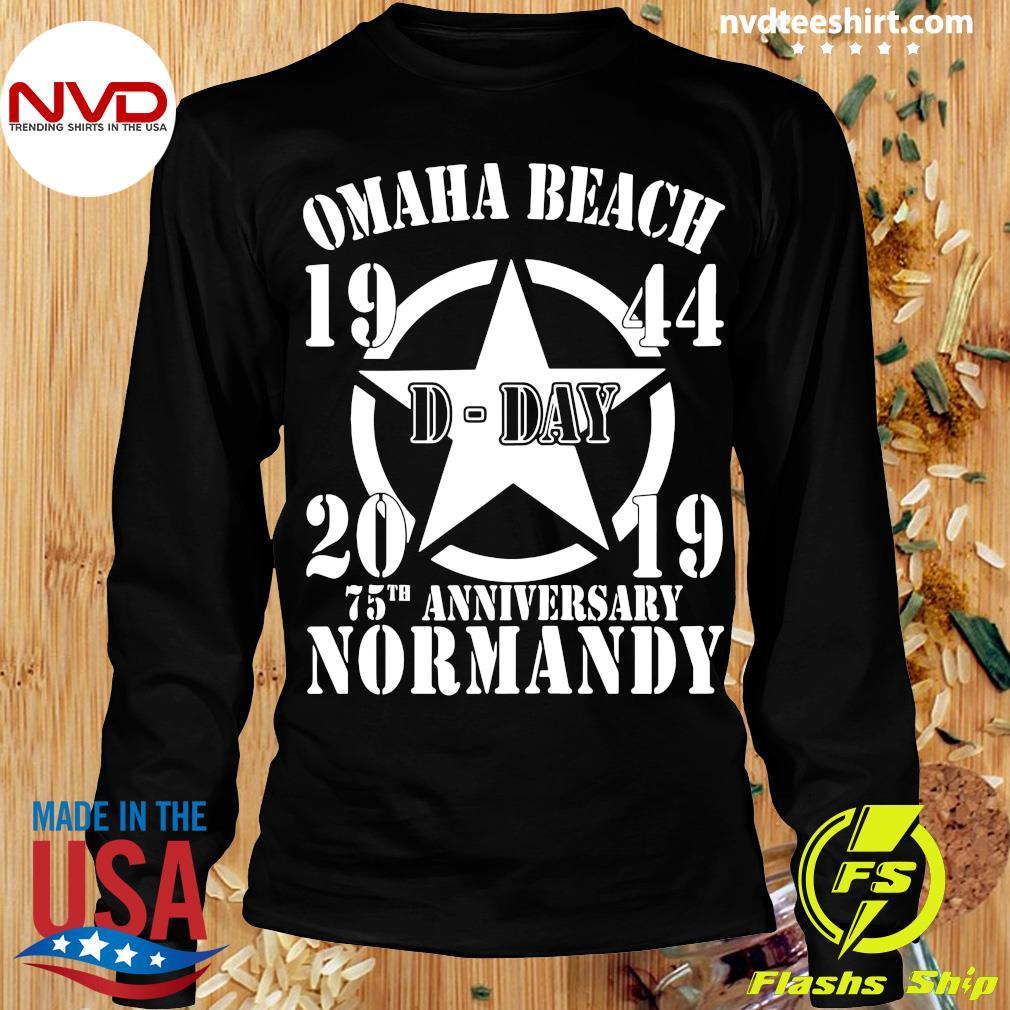 Official Omaha Beach D-Day 1944-2019 Star 75th Anniversary Normandy T-s Longsleeve