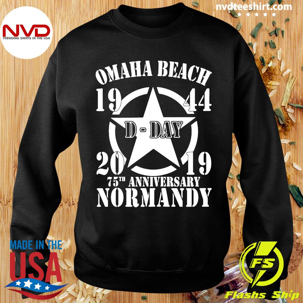Official Omaha Beach D-Day 1944-2019 Star 75th Anniversary Normandy T-s Sweater