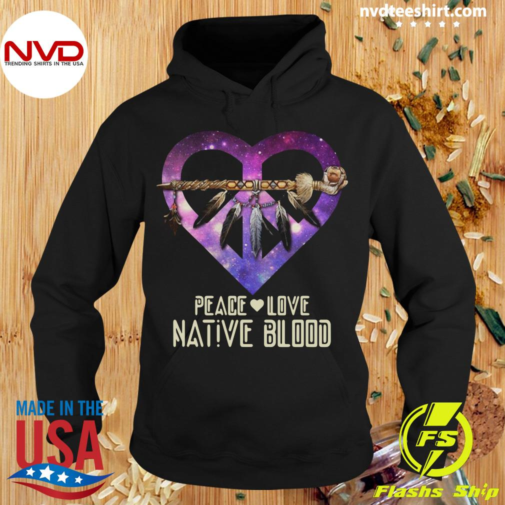 Official Peace Love Dative Blood T-s Hoodie