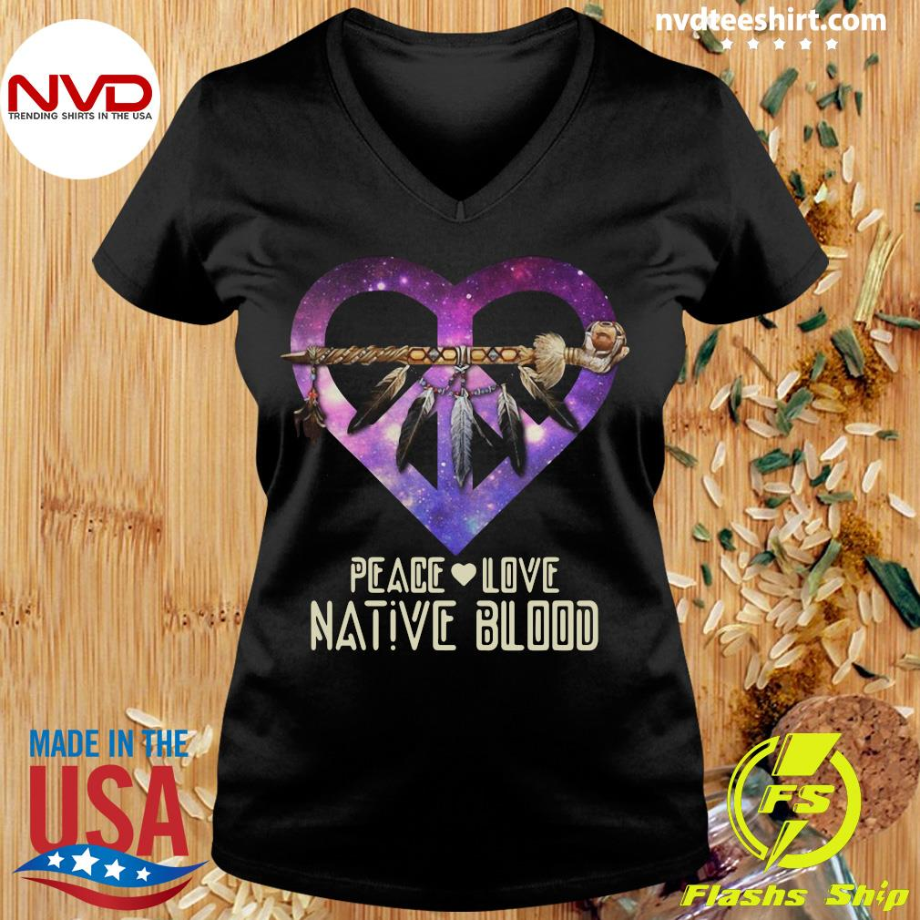 Official Peace Love Dative Blood T-s Ladies tee