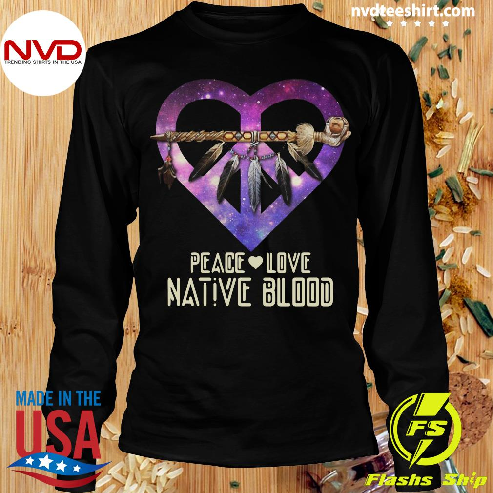 Official Peace Love Dative Blood T-s Longsleeve