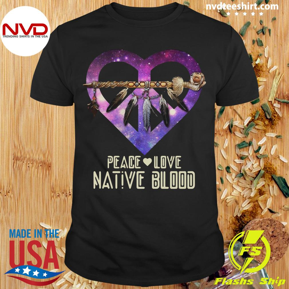 Official Peace Love Dative Blood T-shirt