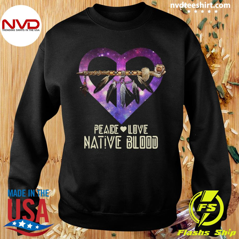 Official Peace Love Dative Blood T-s Sweater