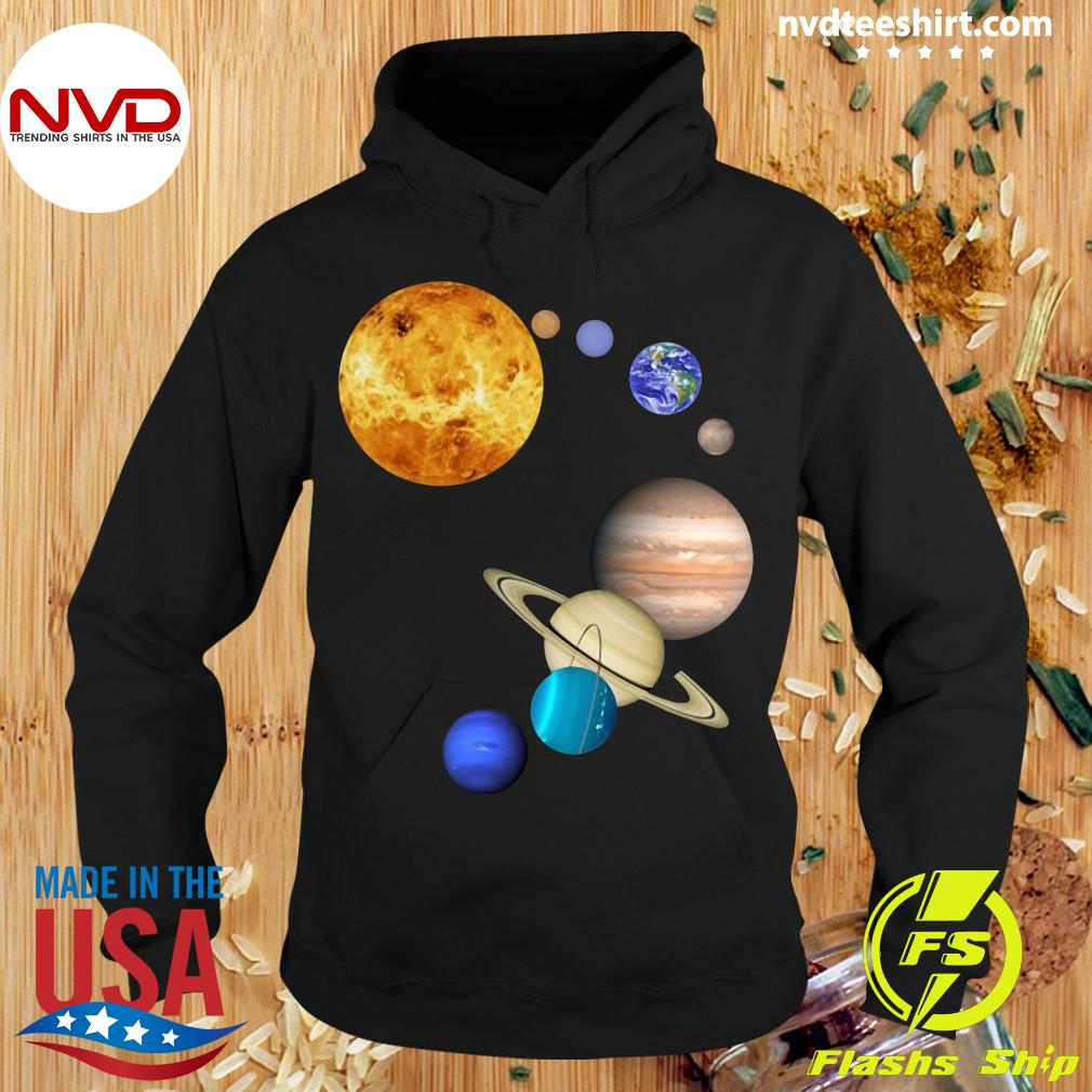 Official Planets In Solar System Science T-s Hoodie
