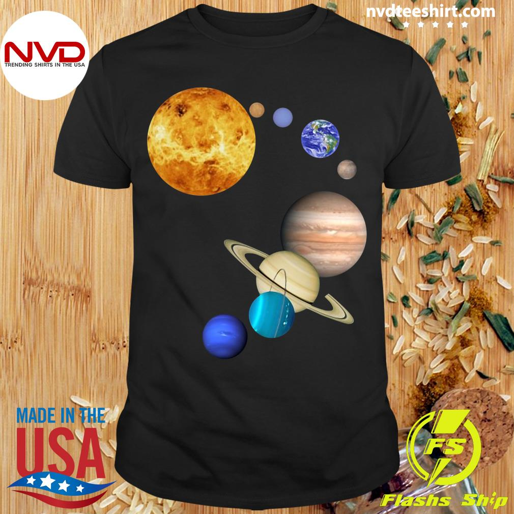 Official Planets In Solar System Science T-shirt