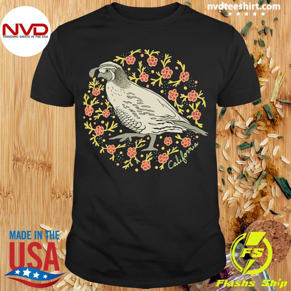 Official Poppy Quail Navy Varsity T-shirt