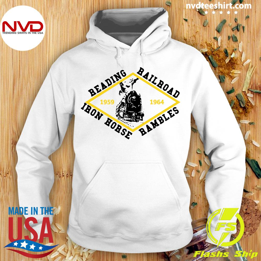 Official Reading Railroad Iron Horse Rambles 1959 1964 Logo T-s Hoodie