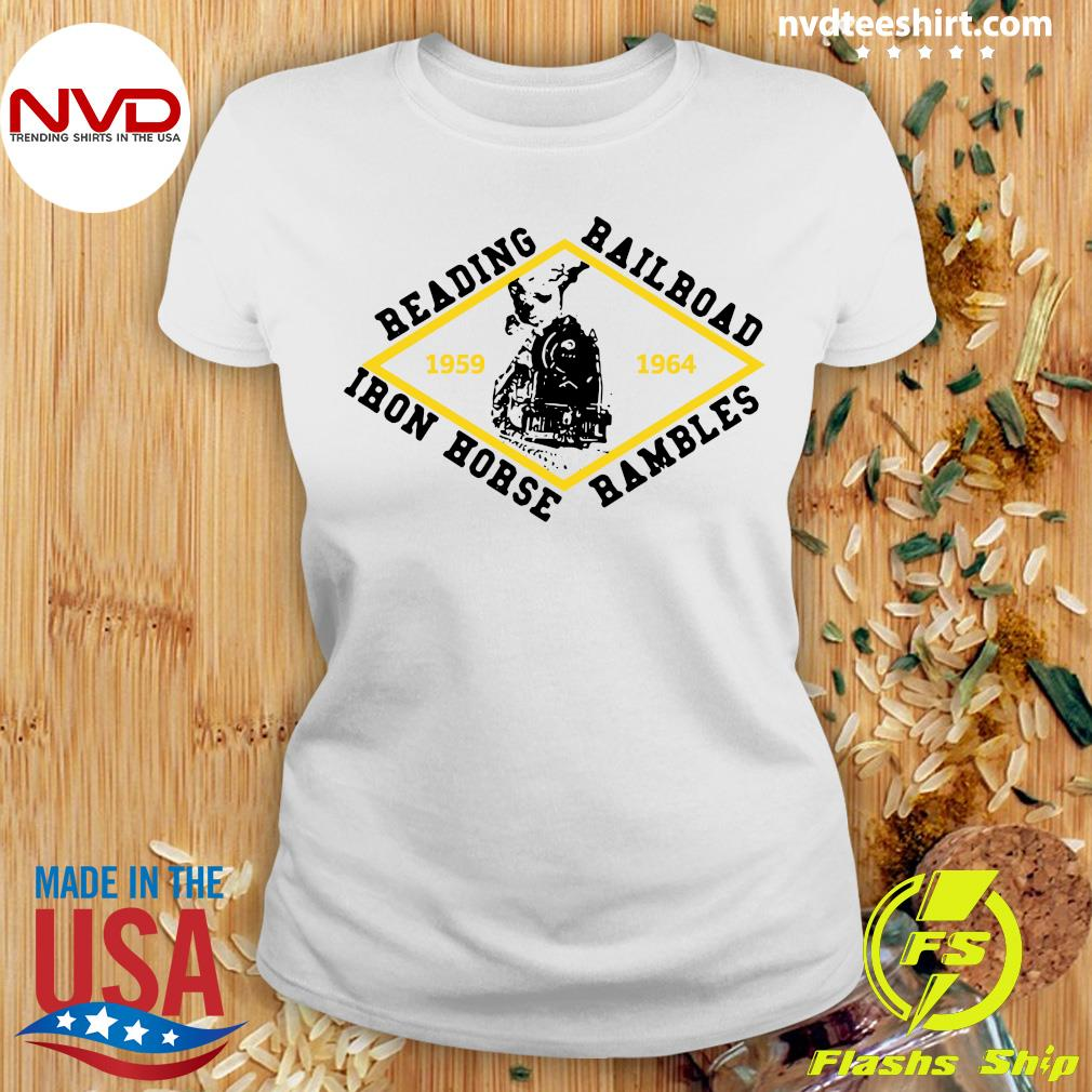 Official Reading Railroad Iron Horse Rambles 1959 1964 Logo T-s Ladies tee