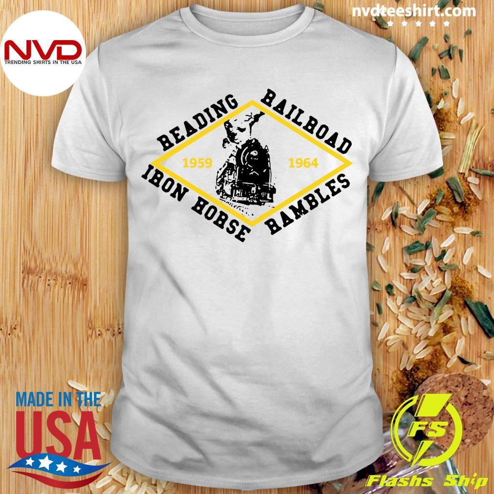 Official Reading Railroad Iron Horse Rambles 1959 1964 Logo T-shirt