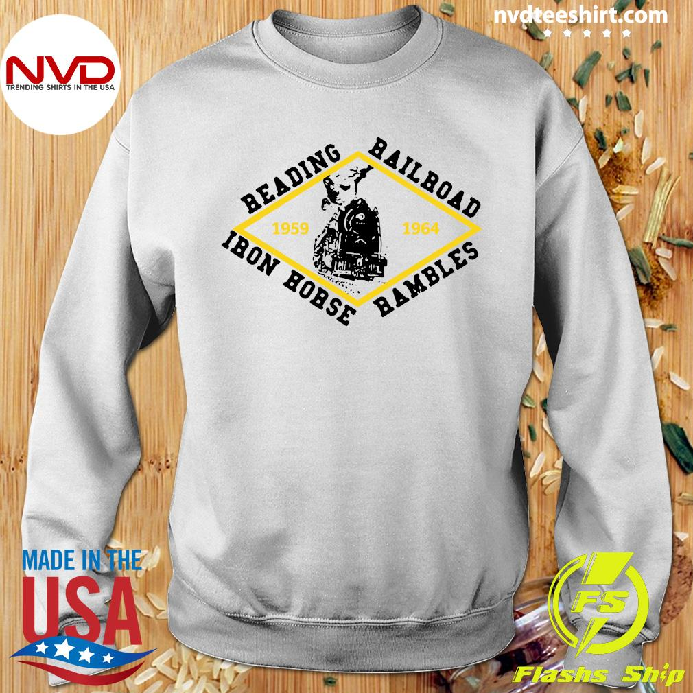 Official Reading Railroad Iron Horse Rambles 1959 1964 Logo T-s Sweater