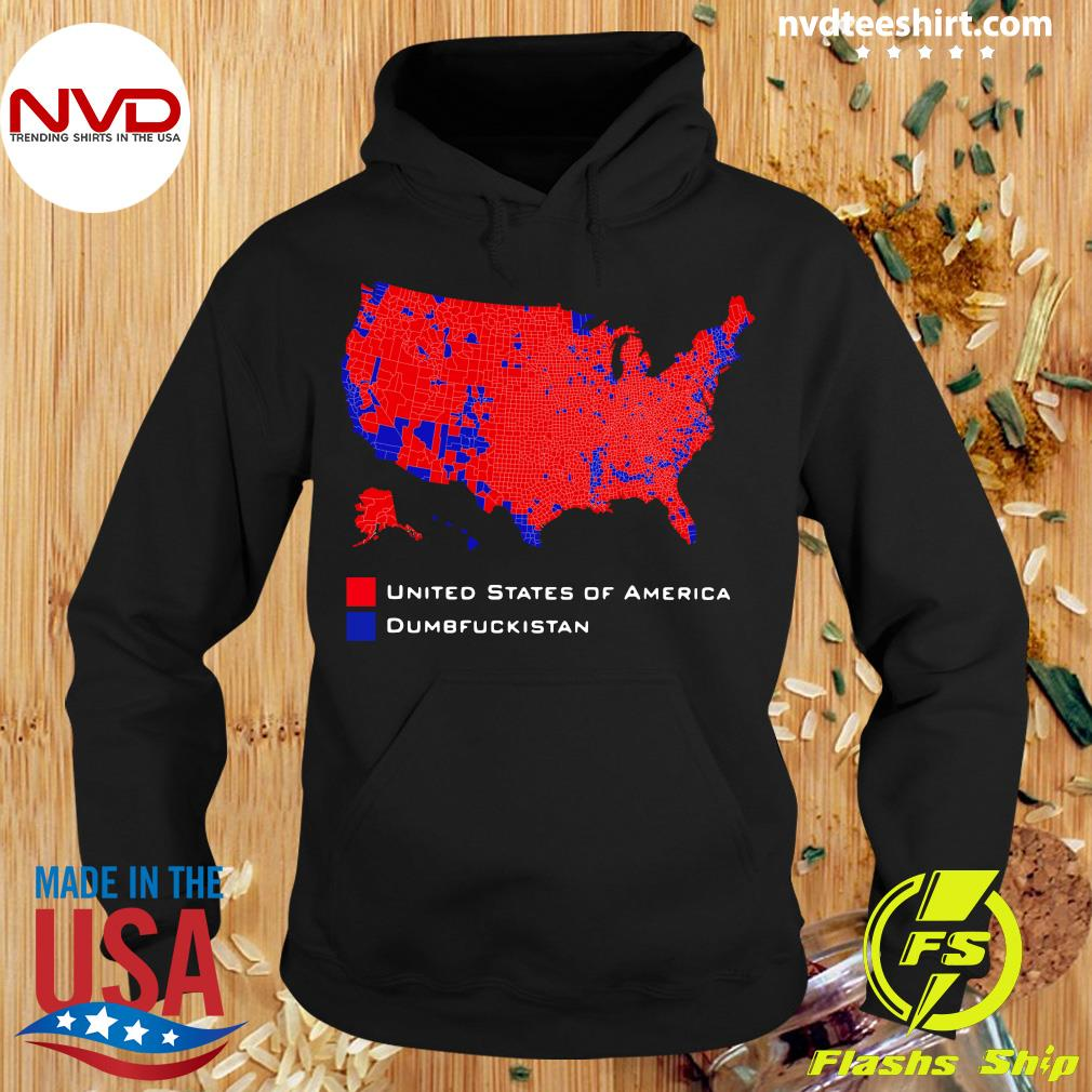 Official Republican Version United States of America Vs. Dumbfuckistan Election Map T-hirt Hoodie