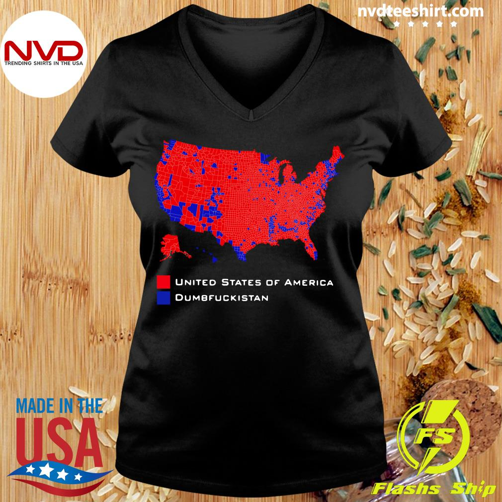 Official Republican Version United States of America Vs. Dumbfuckistan Election Map T-hirt Ladies tee