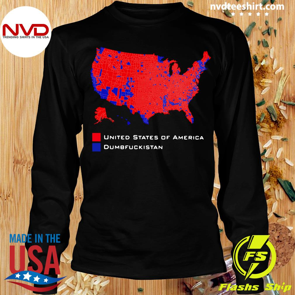 Official Republican Version United States of America Vs. Dumbfuckistan Election Map T-hirt Longsleeve