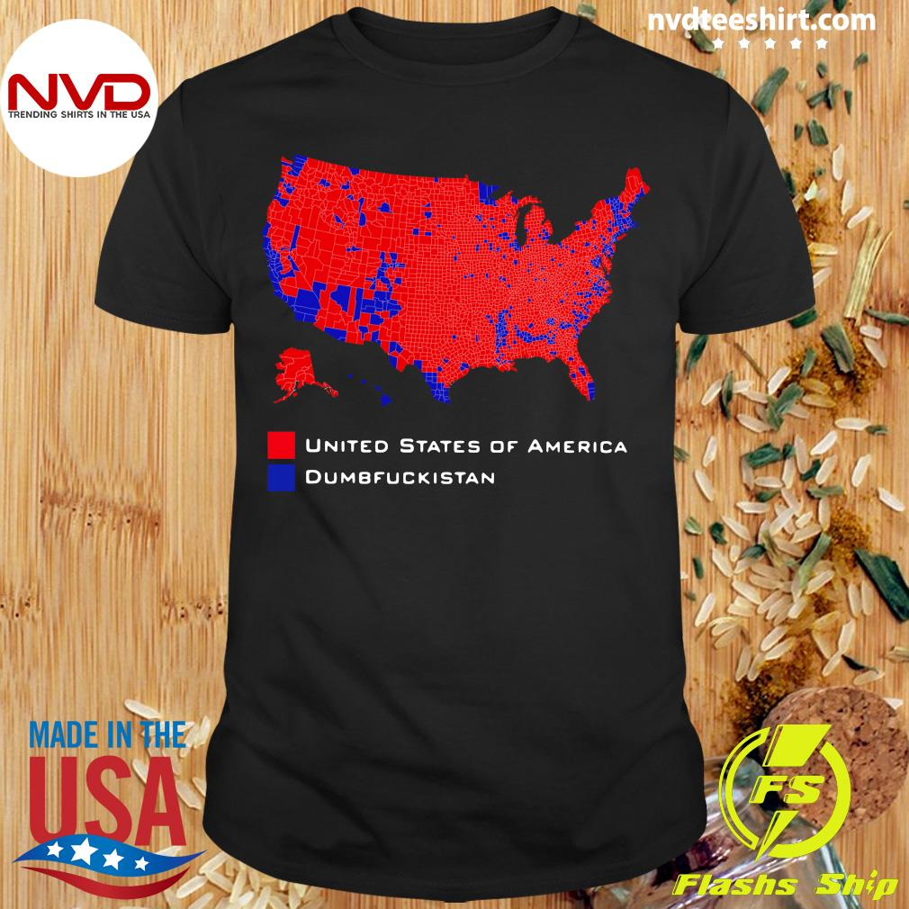 Official Republican Version United States of America Vs. Dumbfuckistan Election Map T-hirt
