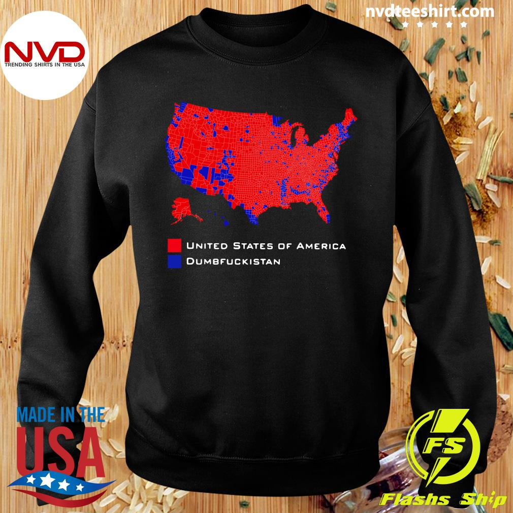 Official Republican Version United States of America Vs. Dumbfuckistan Election Map T-hirt Sweater