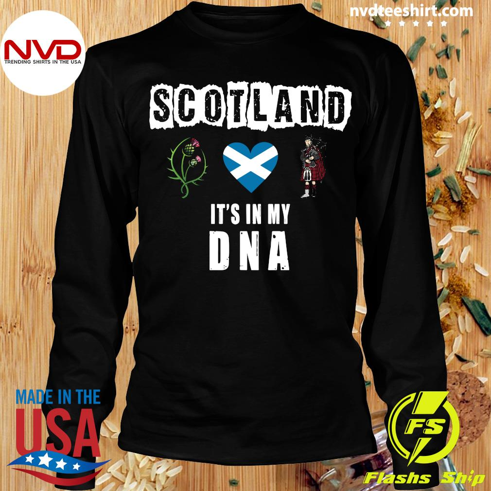 Official Scotland It's In My Dna T-s Longsleeve