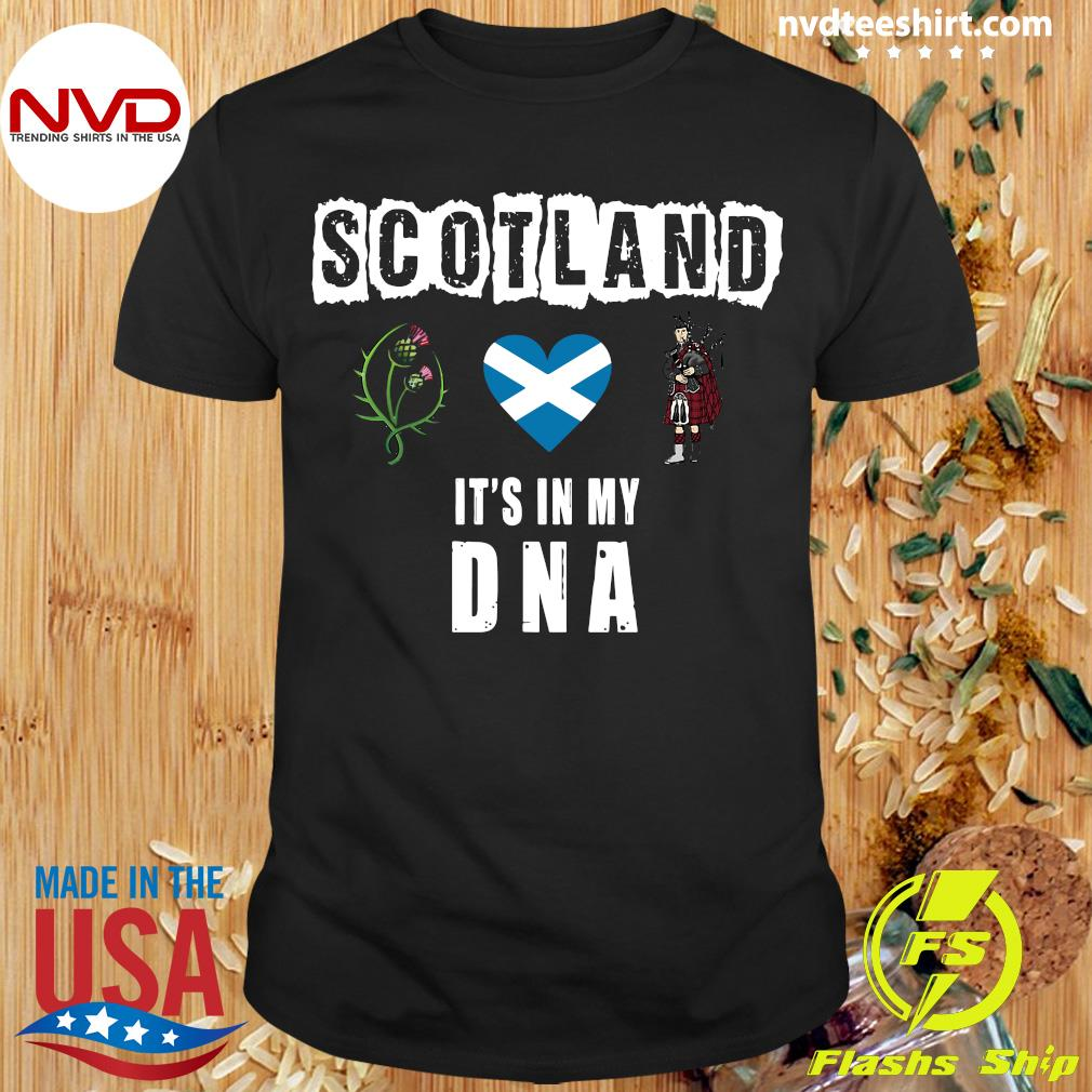 Official Scotland It's In My Dna T-shirt