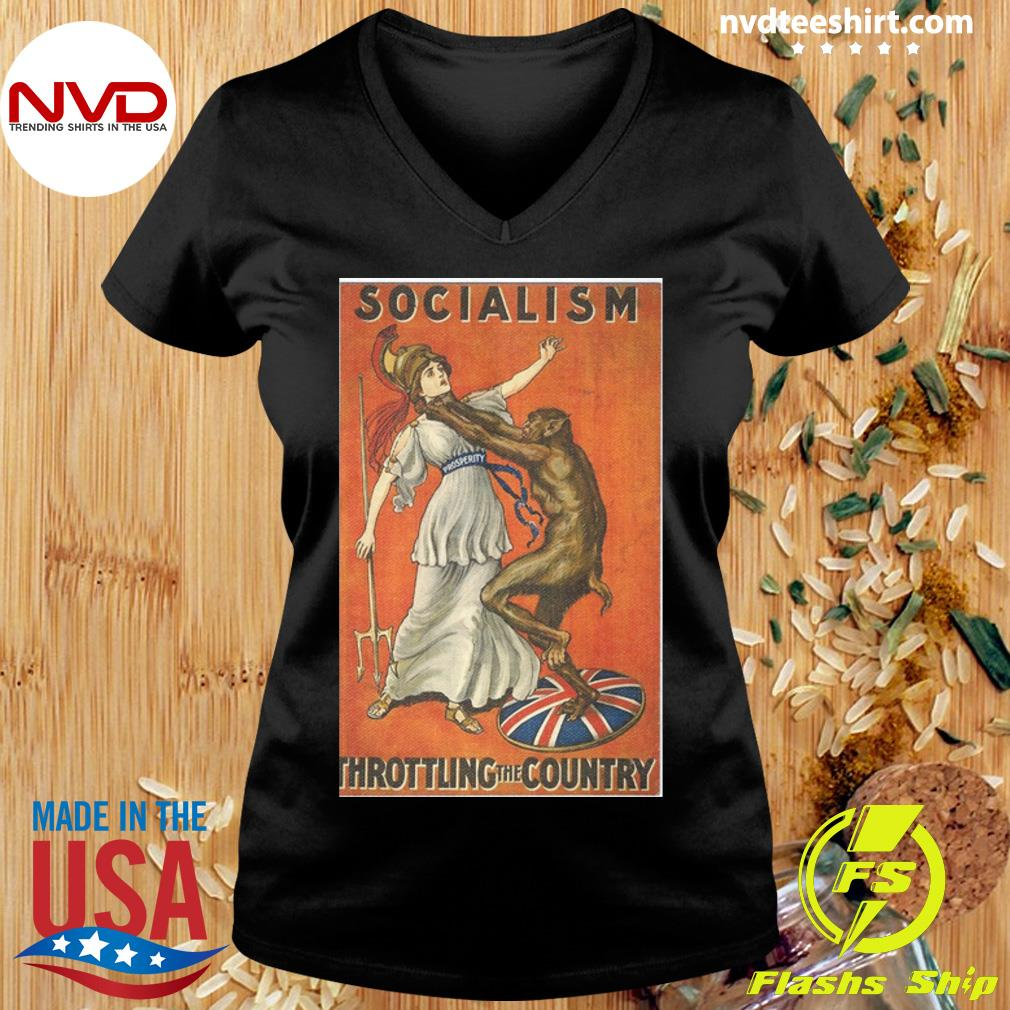 Official Socialism Throttling The Country T-s Ladies tee