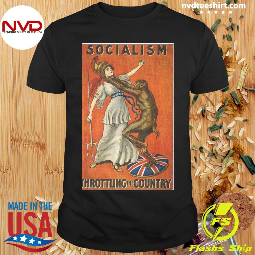 Official Socialism Throttling The Country T-shirt