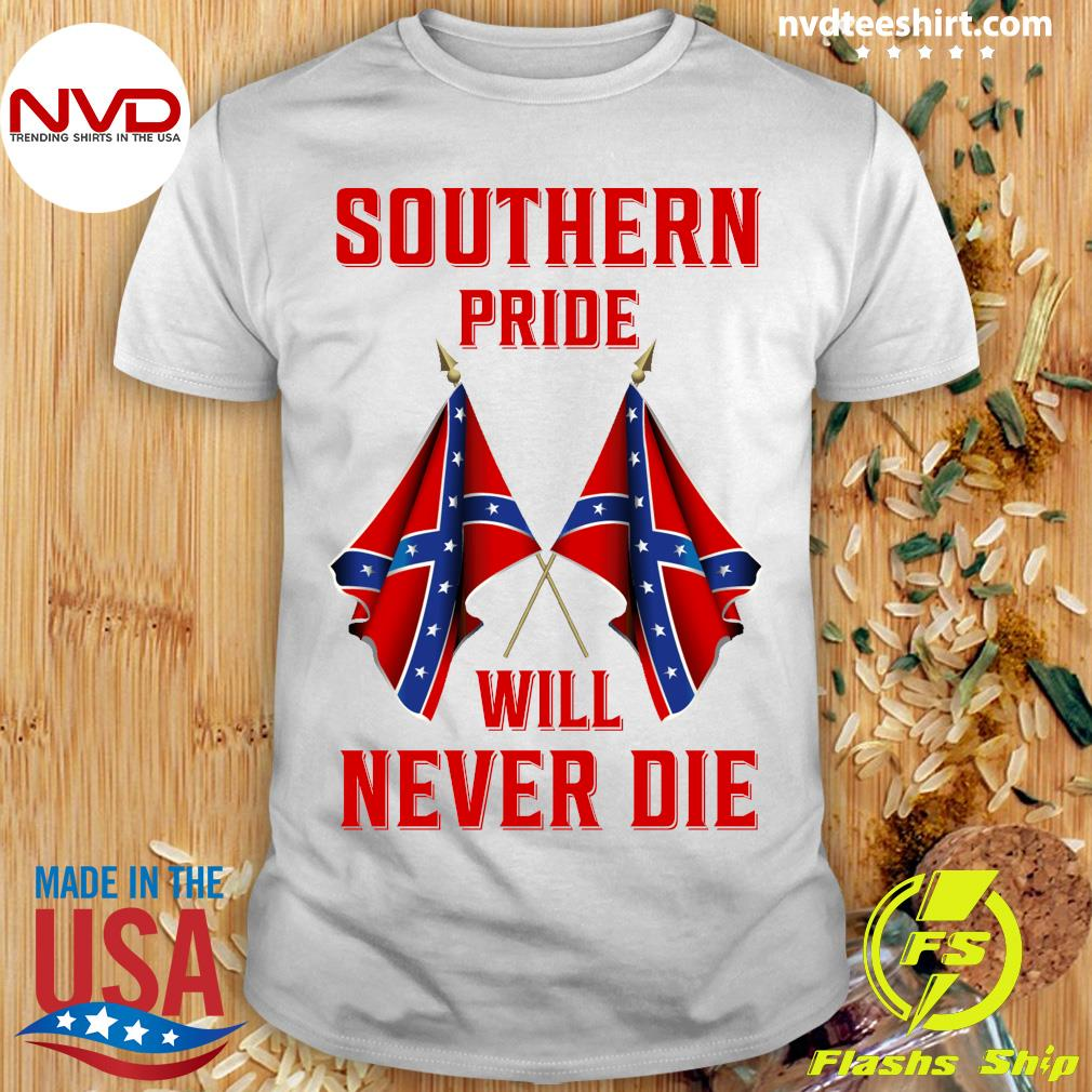 Official Southern Pride Will Never Die Flag Us T-shirt