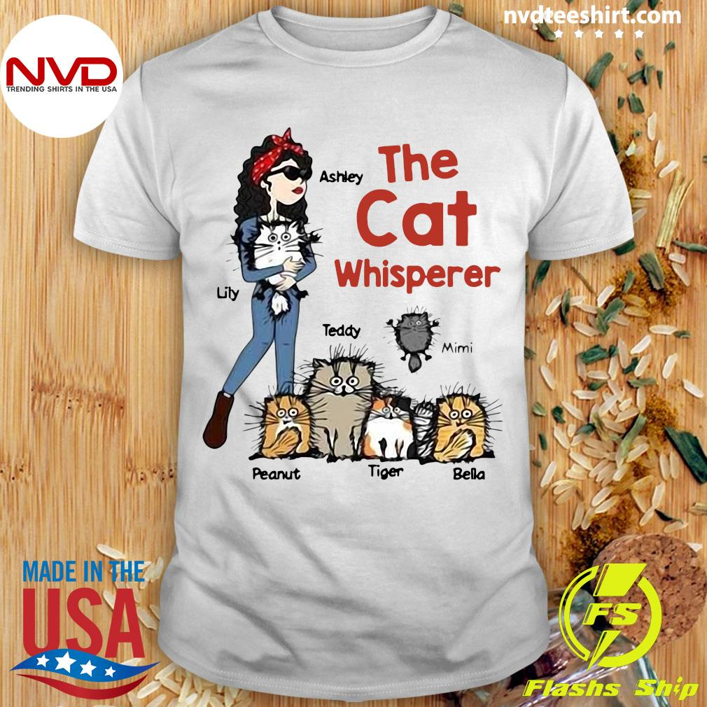 Official The Cat Whisperer Woman And Funny Cats Personalized T-shirt