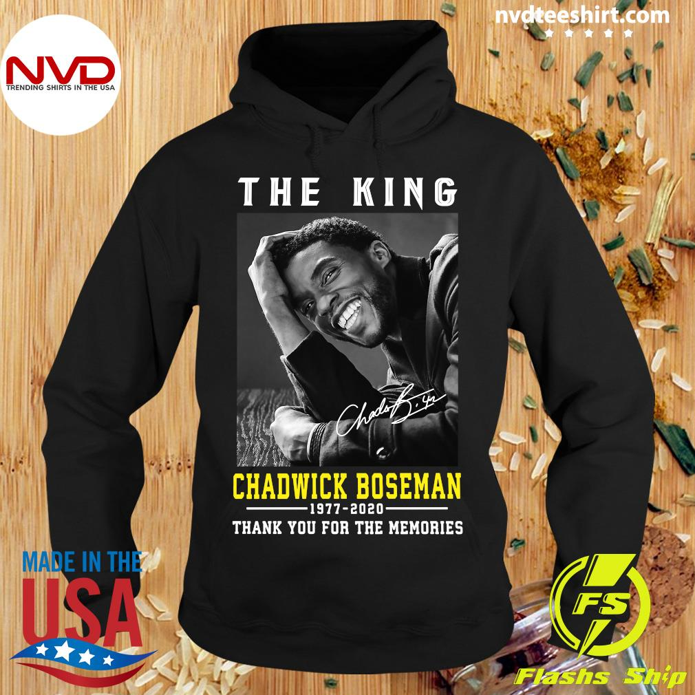 Official The King Chadwick Boseman 1977 - 2020 Thank You For The Memories T-s Hoodie