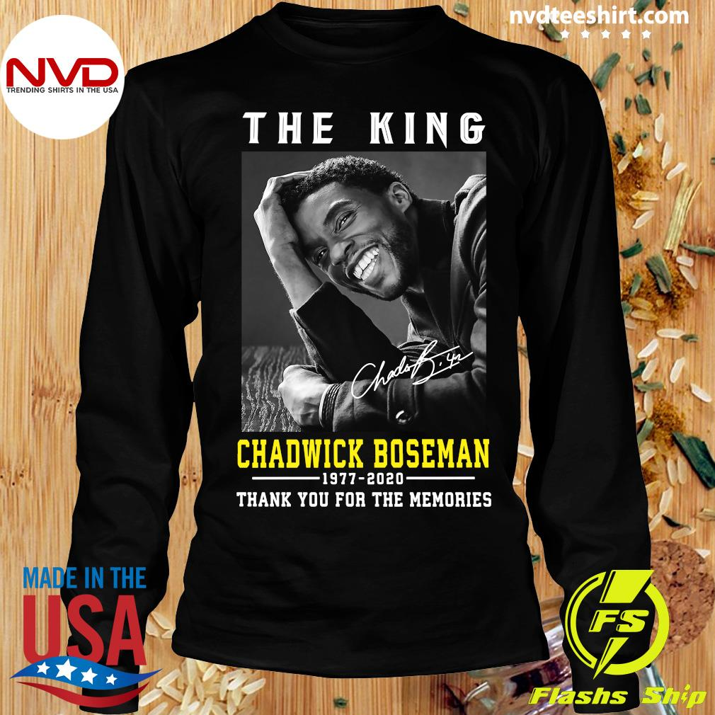 Official The King Chadwick Boseman 1977 - 2020 Thank You For The Memories T-s Longsleeve