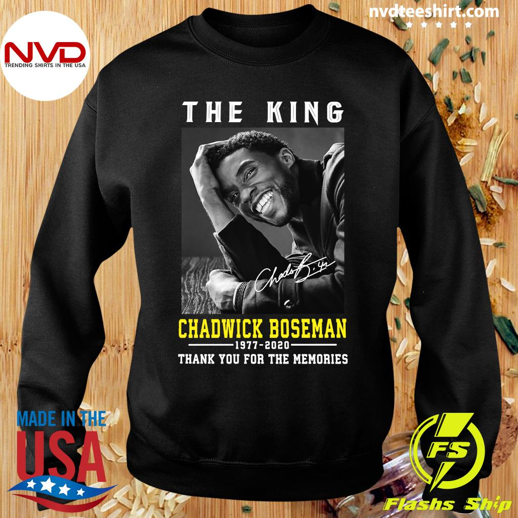 Official The King Chadwick Boseman 1977 - 2020 Thank You For The Memories T-s Sweater