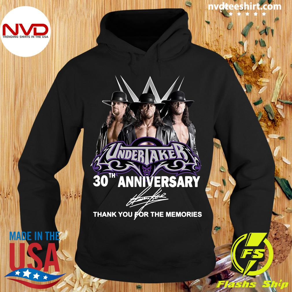 Official Undertaker 30th Anniversary Signature Thank You For The Memories T-s Hoodie