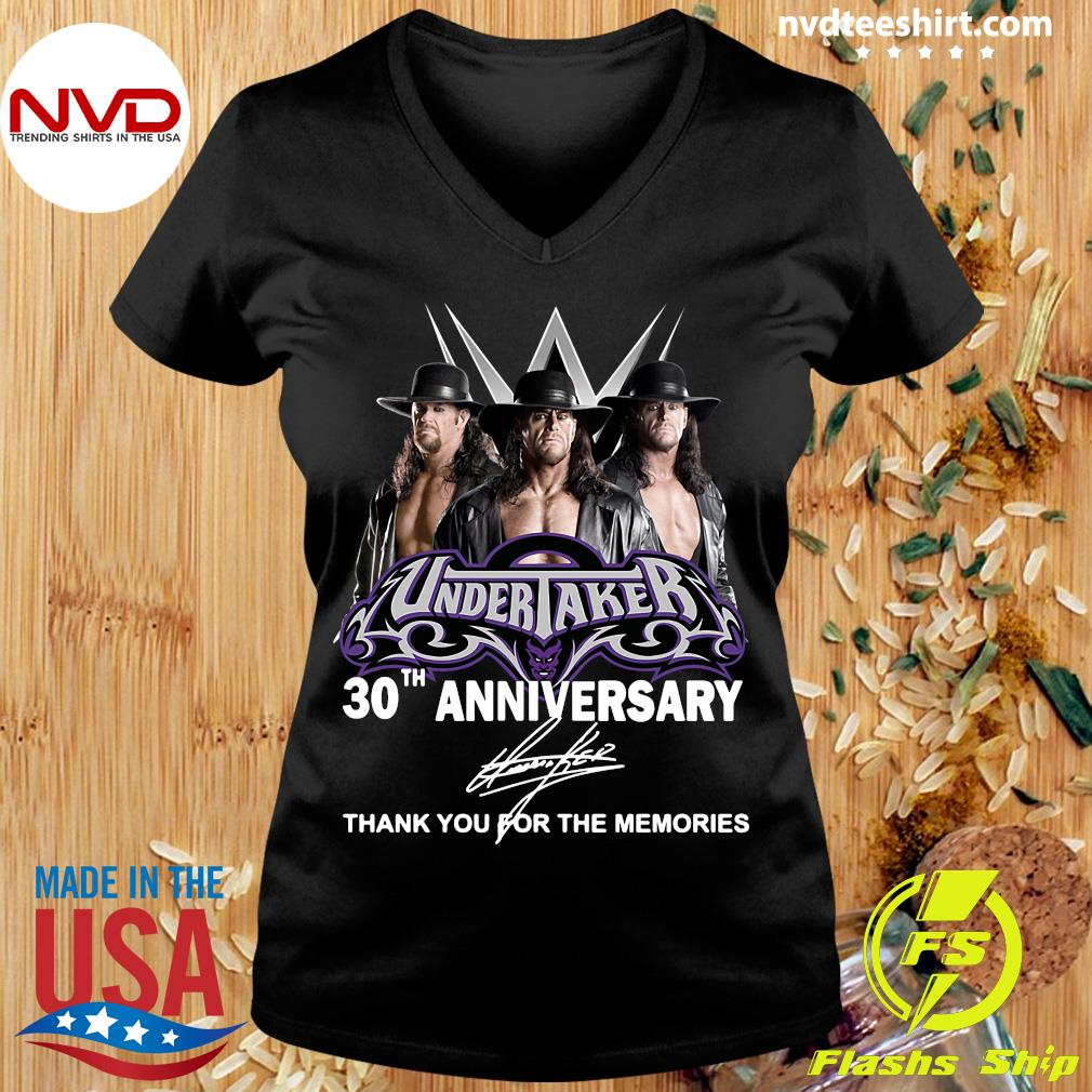Official Undertaker 30th Anniversary Signature Thank You For The Memories T-s Ladies tee