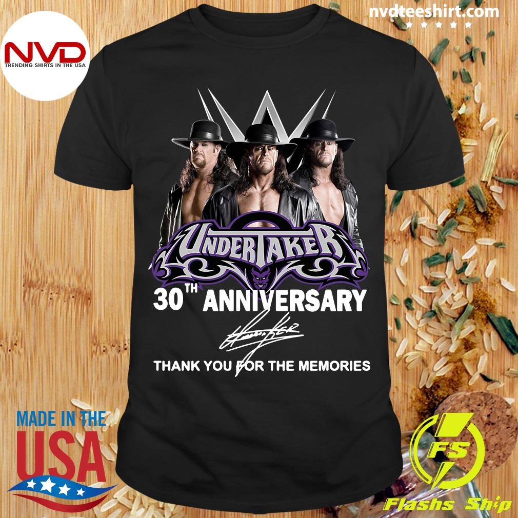 Official Undertaker 30th Anniversary Signature Thank You For The Memories T-shirt