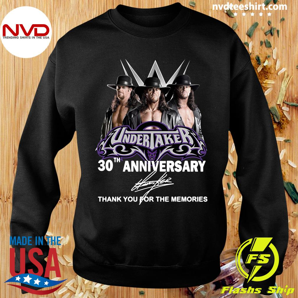 Official Undertaker 30th Anniversary Signature Thank You For The Memories T-s Sweater
