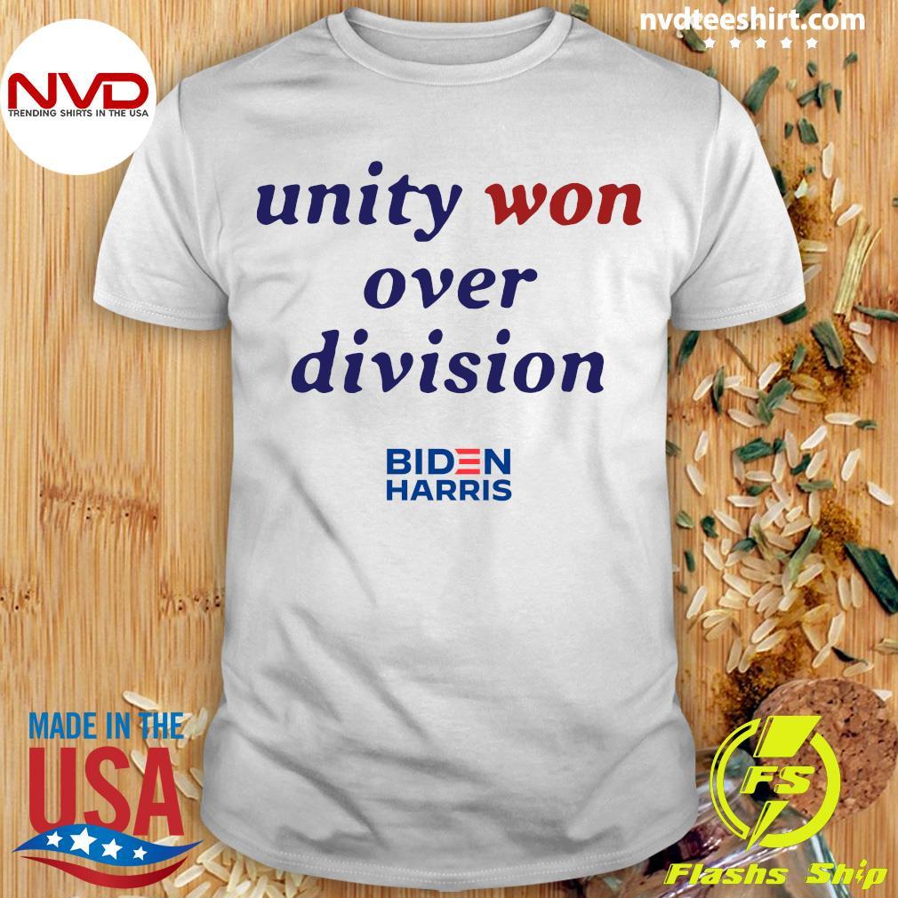 Official Unity Won Over Division Biden Harris T-shirt