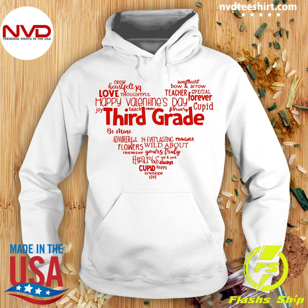 Official Valentine Heart Teacher Name Grade Personalized Raglan T-s Hoodie