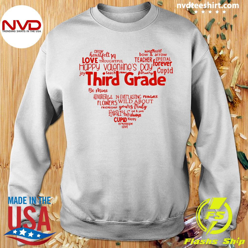 Official Valentine Heart Teacher Name Grade Personalized Raglan T-s Sweater