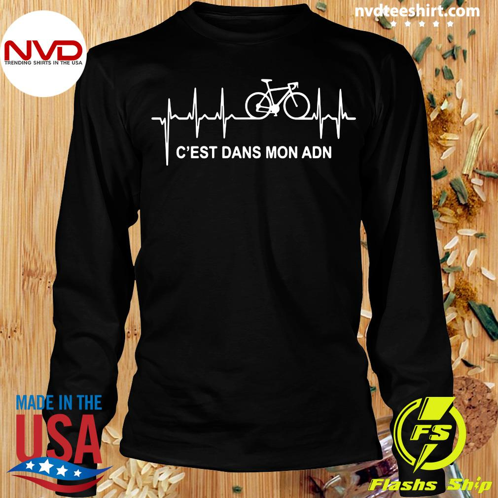Official Vélo C'est Dans Mon ADN Purple T-s Longsleeve