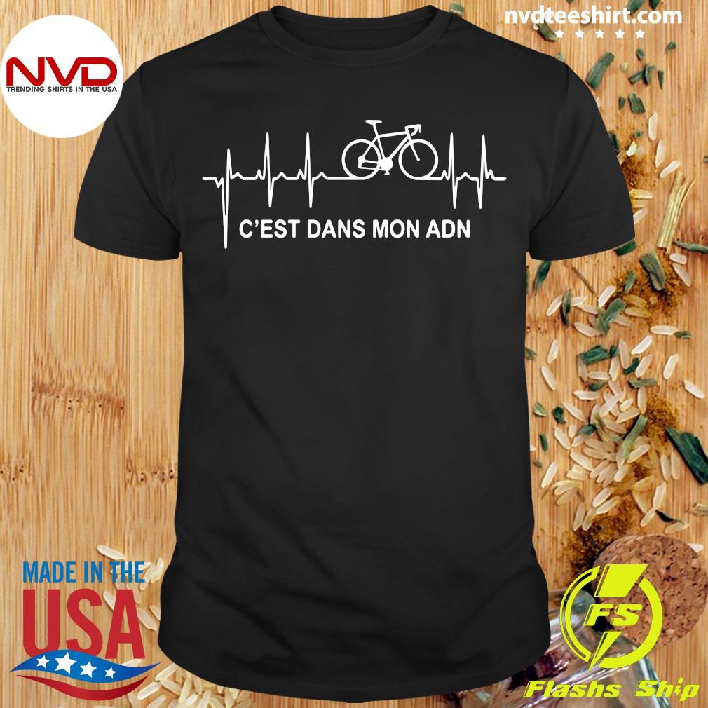 Official Vélo C'est Dans Mon ADN Purple T-shirt