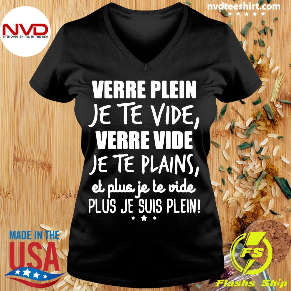 Official Verre Plein Je Te Vide Verre Vide Je Te Plains T-s Ladies tee