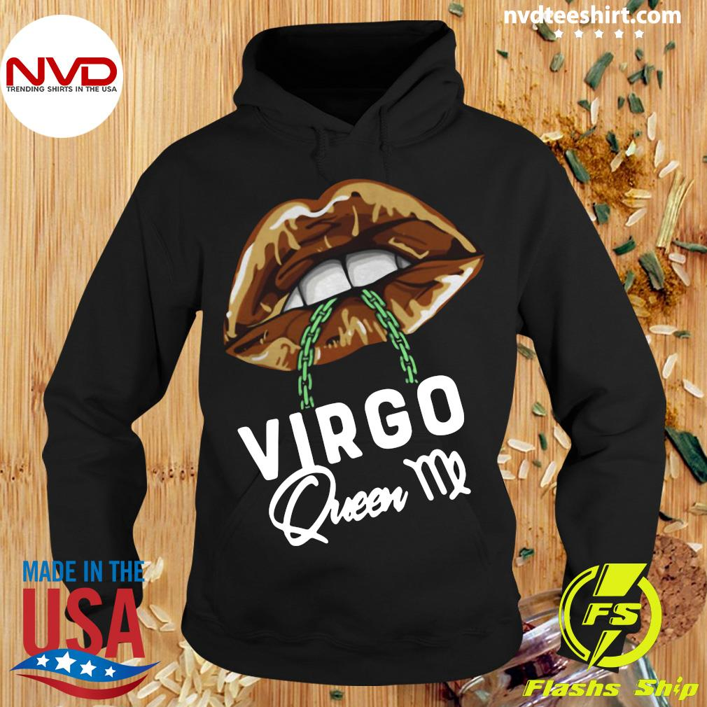 Official Virgo Queen Lips Sexy Black Afro Queen September T-s Hoodie