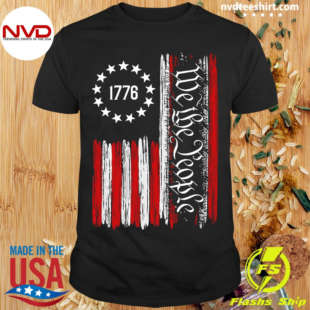 Official We The People Betsy Ross Flag 1776 T-shirt