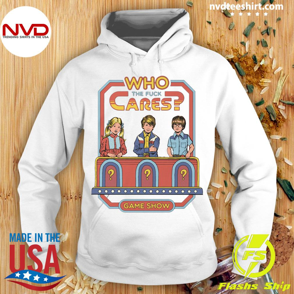 Official Who The Fuck Cares Game Show T-s Hoodie