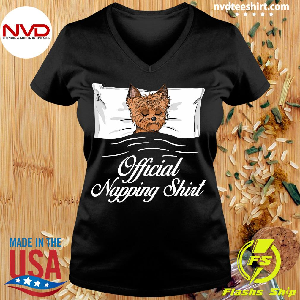 Official Yorkshire Terrier Official Napping T-s Ladies tee