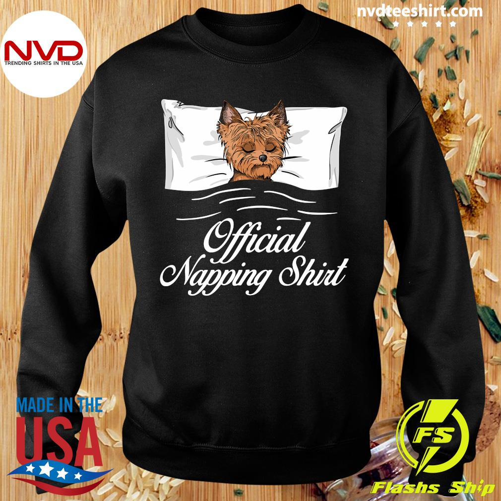 Official Yorkshire Terrier Official Napping T-s Sweater